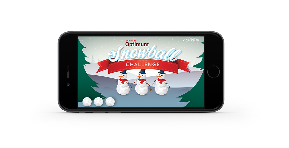 Shoppers Drug Mart Snowball game on phone