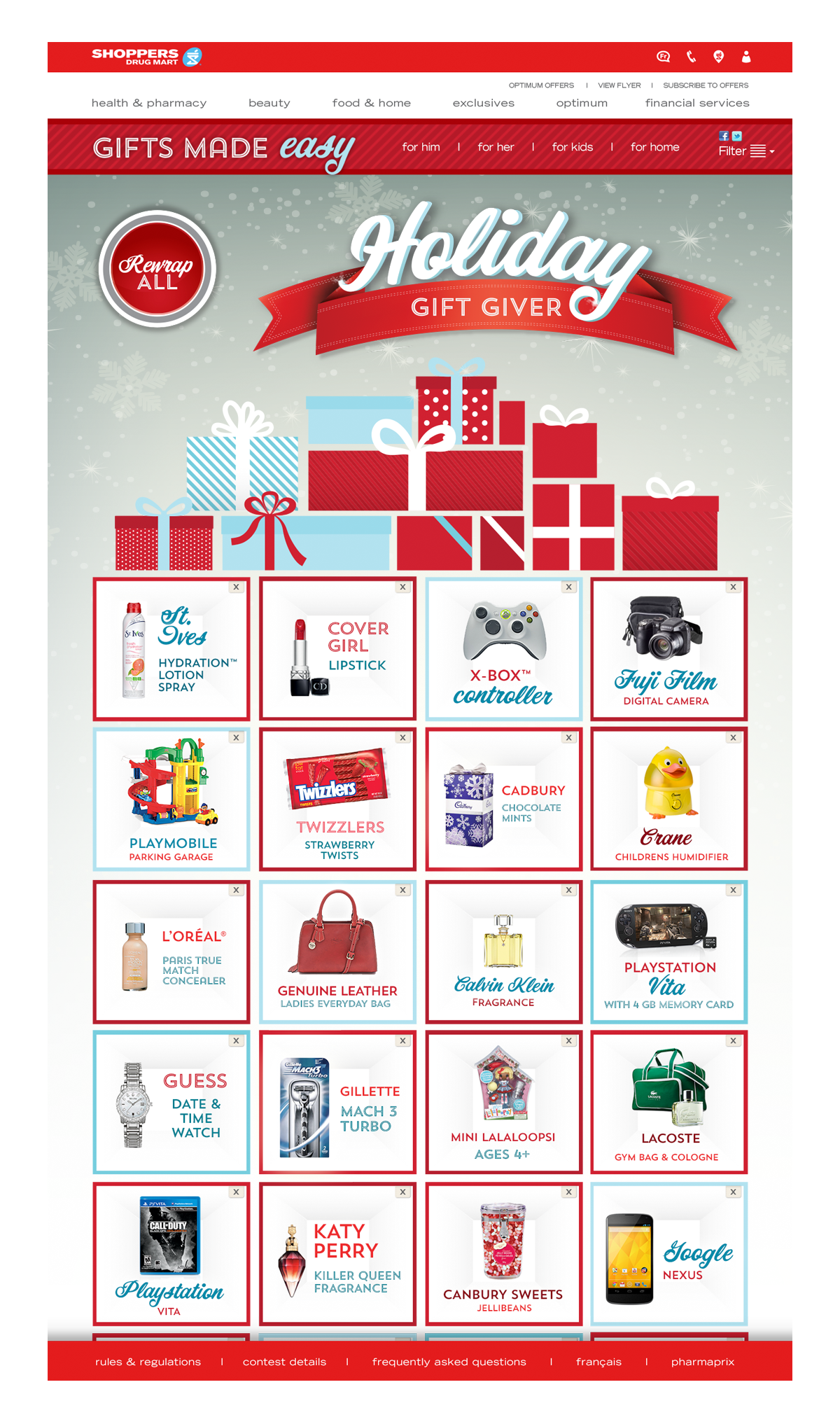 Shoppers Drug Mart Holiday Website
