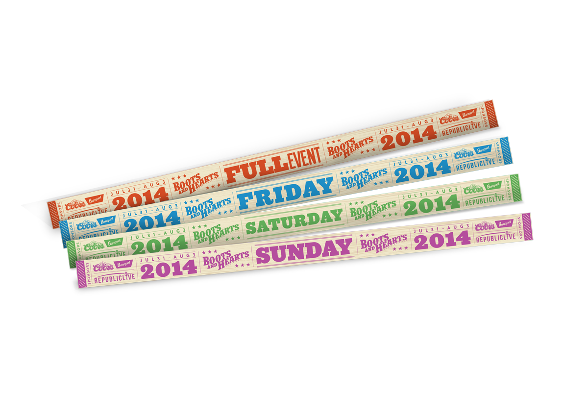 Boots and Hearts Wristbands