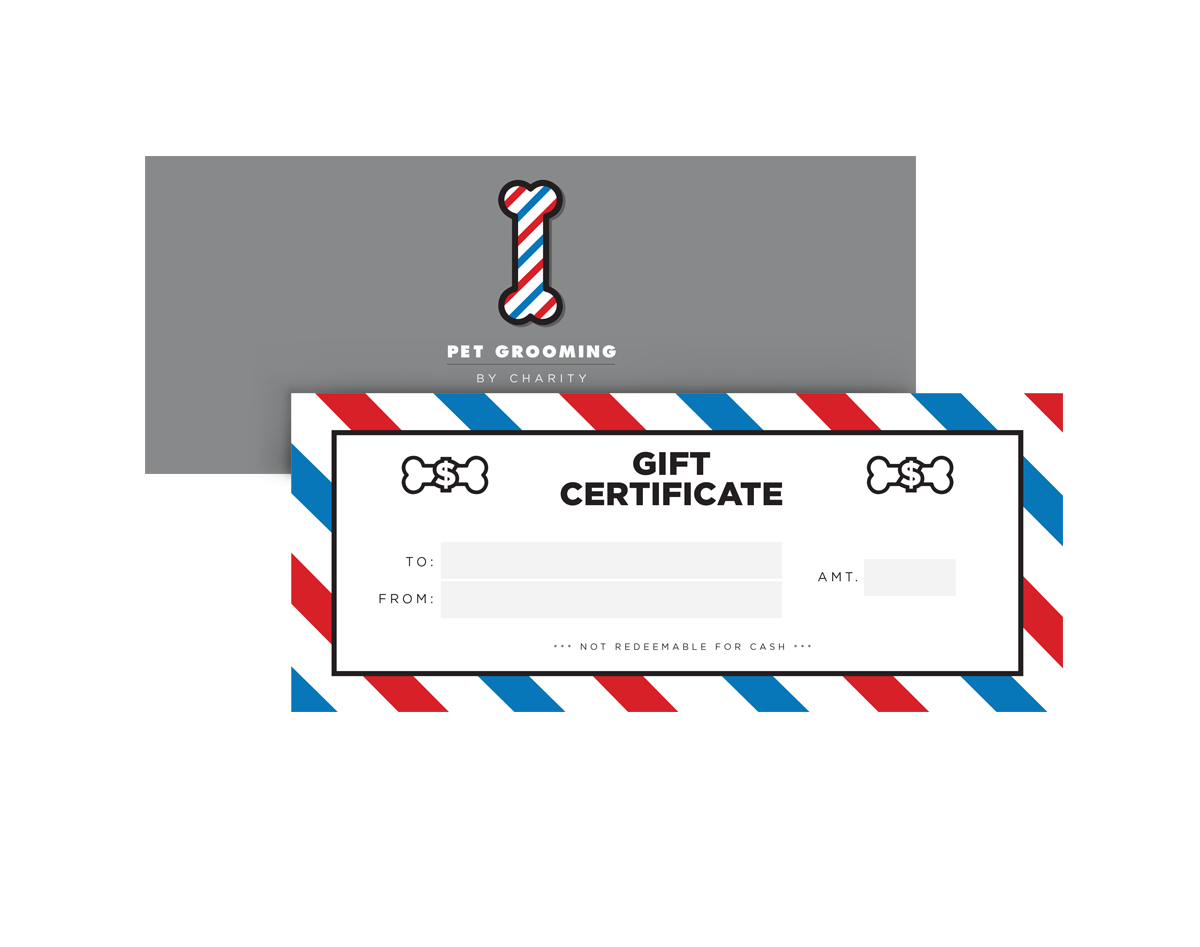 Pet Grooming by Charity gift certificate