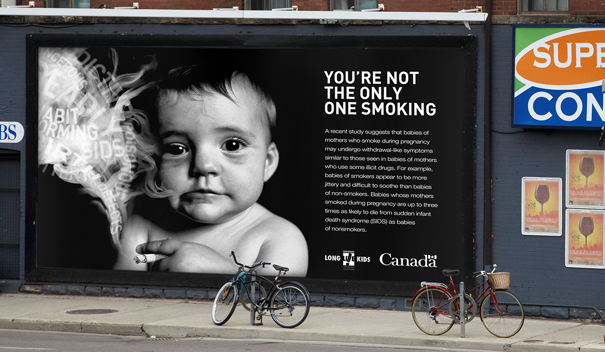 Health Canada anti-smoking baby billboard