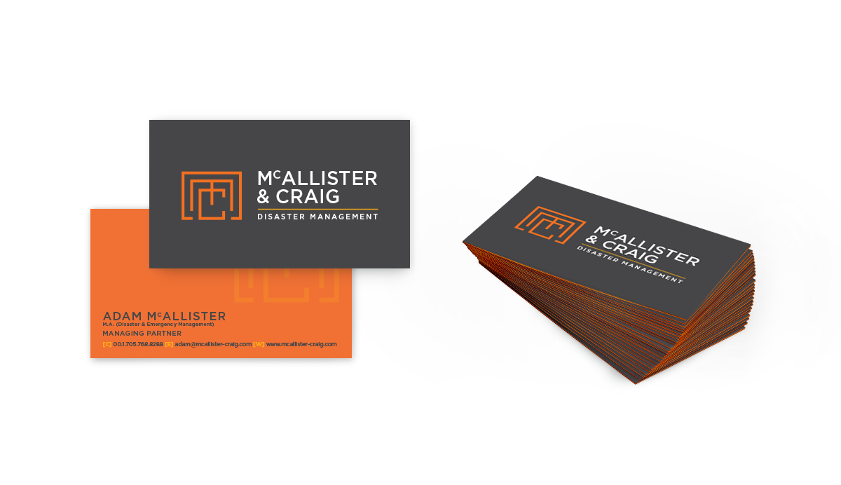 McAllister and Craig Business cards