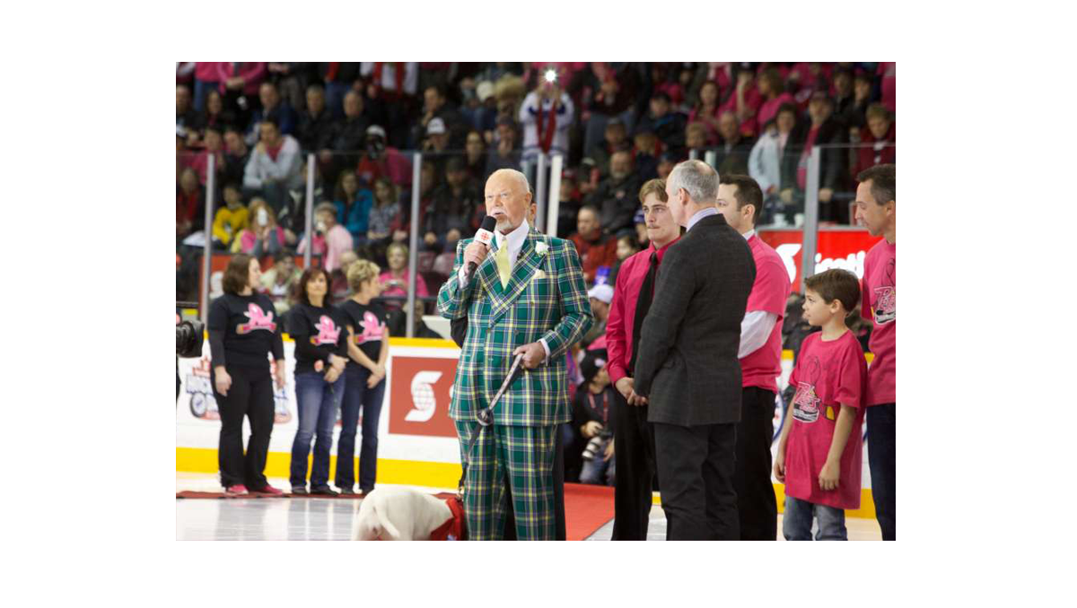 Pink in the rink Don Cherry