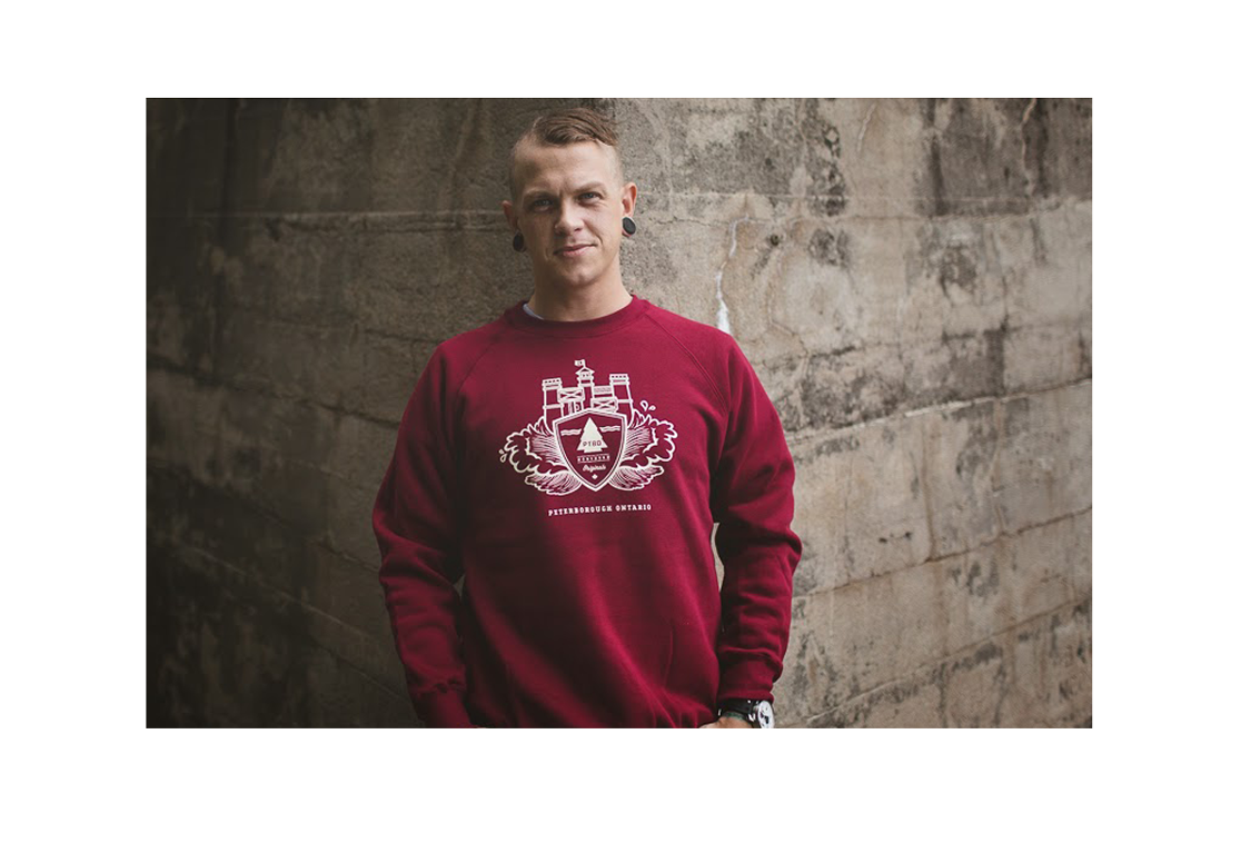 PTBO Northern Originals Maroon Locks sweater