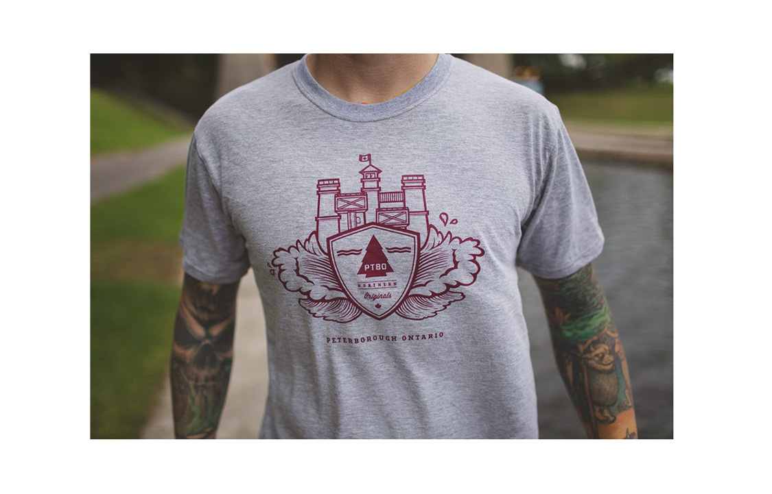 PTBO Northern Originals Locks Tee Grey
