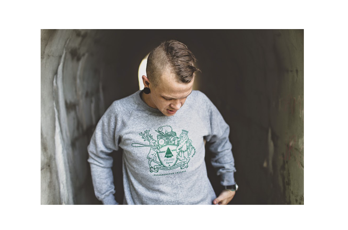 PTBO Northern Originals Crest Sweater Grey