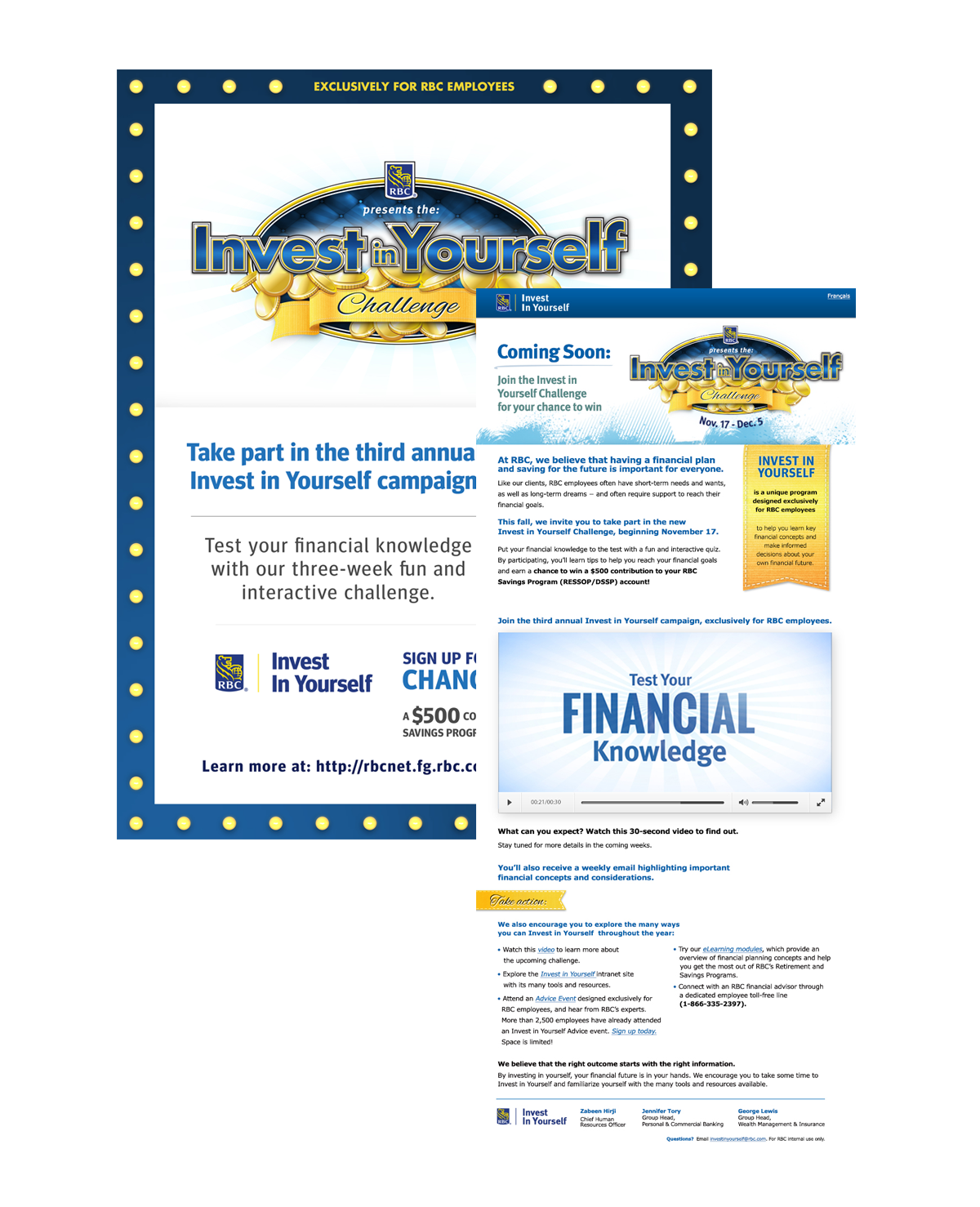 RBC Invest in yourself website