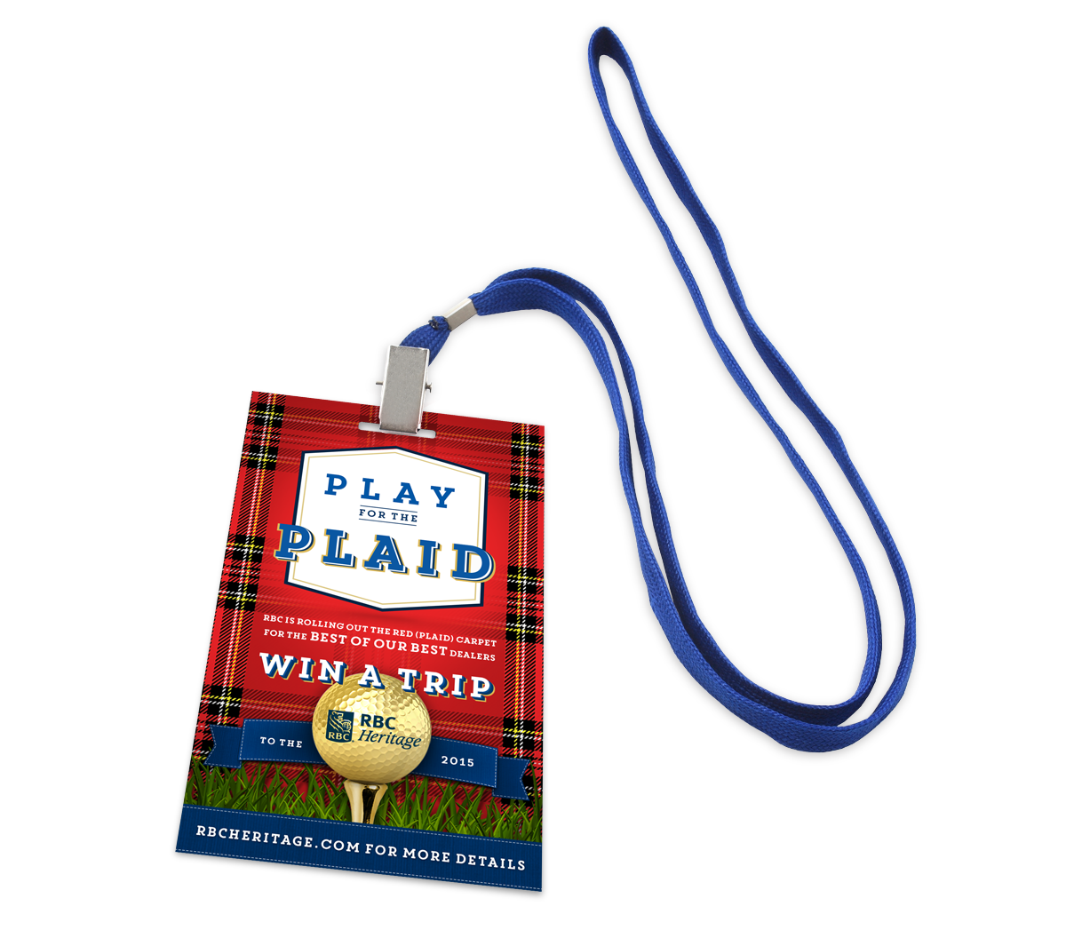 Play for the plaid lanyard